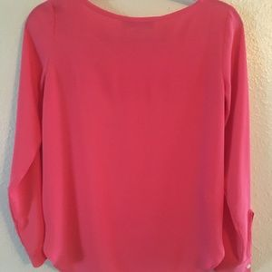 Salmon Colored Long Sleeve Blouse